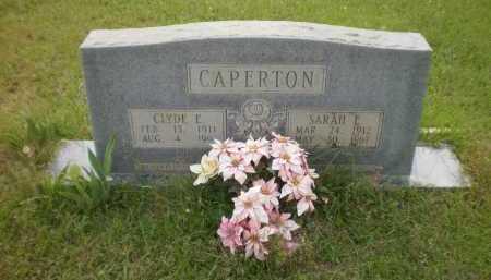 CAPERTON, SARAH E - Drew County, Arkansas | SARAH E CAPERTON - Arkansas Gravestone Photos