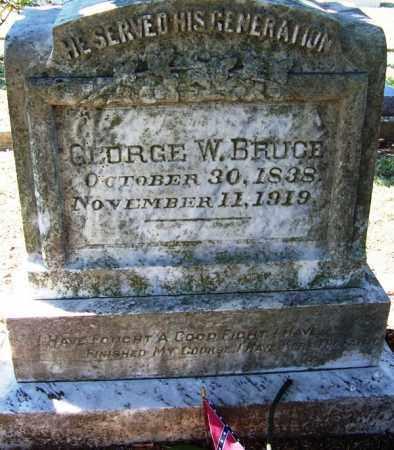 BRUCE (VETERAN CSA), GEORGE W - Faulkner County, Arkansas | GEORGE W BRUCE (VETERAN CSA) - Arkansas Gravestone Photos