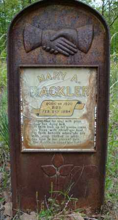 HACKLER, MARY A. - Faulkner County, Arkansas | MARY A. HACKLER - Arkansas Gravestone Photos