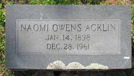 ACKLIN, NAOMI - Faulkner County, Arkansas | NAOMI ACKLIN - Arkansas Gravestone Photos