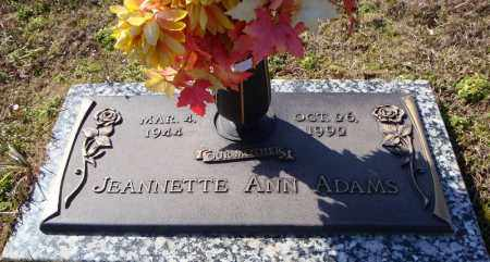 ADAMS, JEANETTE ANN - Faulkner County, Arkansas | JEANETTE ANN ADAMS - Arkansas Gravestone Photos
