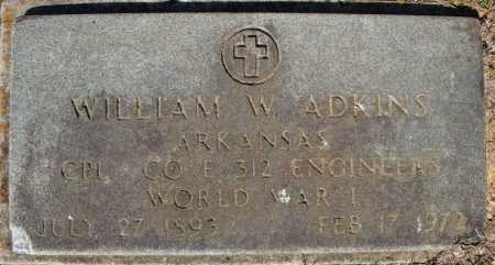 ADKINS (VETERAN WWI), WILLIAM W - Faulkner County, Arkansas | WILLIAM W ADKINS (VETERAN WWI) - Arkansas Gravestone Photos
