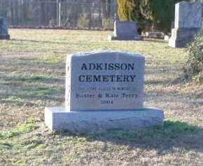 *ADKISSON CEMETERY MONUMENT,  - Faulkner County, Arkansas |  *ADKISSON CEMETERY MONUMENT - Arkansas Gravestone Photos
