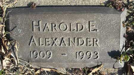 ALEXANDER, HAROLD E. - Faulkner County, Arkansas | HAROLD E. ALEXANDER - Arkansas Gravestone Photos