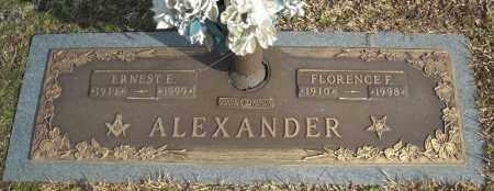 ALEXANDER, ERNEST E. - Faulkner County, Arkansas | ERNEST E. ALEXANDER - Arkansas Gravestone Photos