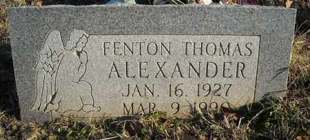 ALEXANDER, FENTON THOMAS - Faulkner County, Arkansas | FENTON THOMAS ALEXANDER - Arkansas Gravestone Photos