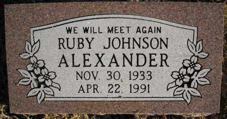 JOHNSON ALEXANDER, RUBY - Faulkner County, Arkansas | RUBY JOHNSON ALEXANDER - Arkansas Gravestone Photos