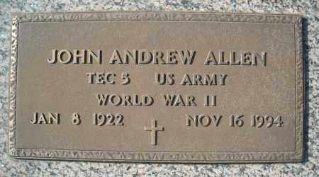ALLEN (VETERAN WWII), JOHN ANDREW - Faulkner County, Arkansas | JOHN ANDREW ALLEN (VETERAN WWII) - Arkansas Gravestone Photos
