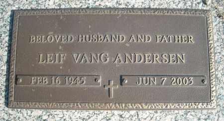 ANDERSEN, LEIF VANG - Faulkner County, Arkansas | LEIF VANG ANDERSEN - Arkansas Gravestone Photos