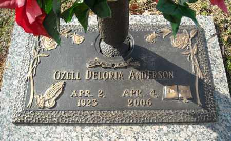 ANDERSON, OZELL DELORIA - Faulkner County, Arkansas | OZELL DELORIA ANDERSON - Arkansas Gravestone Photos