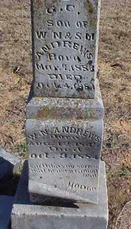 ANDREWS, WILLIAM N. - Faulkner County, Arkansas | WILLIAM N. ANDREWS - Arkansas Gravestone Photos