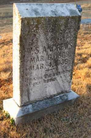 ANDREWS, W. SAMUEL - Faulkner County, Arkansas   W. SAMUEL ANDREWS - Arkansas Gravestone Photos