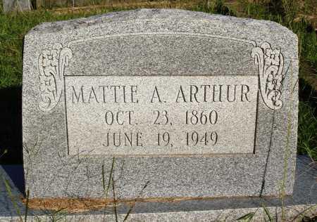ARTHUR, MATTIE A. - Faulkner County, Arkansas | MATTIE A. ARTHUR - Arkansas Gravestone Photos