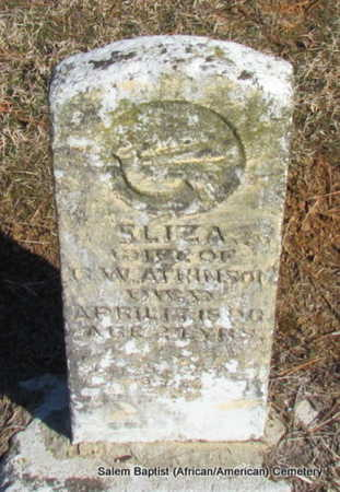 ATKINSON, ELIZA - Faulkner County, Arkansas | ELIZA ATKINSON - Arkansas Gravestone Photos