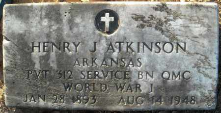 ATKINSON (VETERAN WWI), HENRY J - Faulkner County, Arkansas | HENRY J ATKINSON (VETERAN WWI) - Arkansas Gravestone Photos
