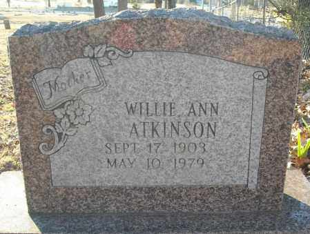 ATKINSON, WILLIE ANN - Faulkner County, Arkansas | WILLIE ANN ATKINSON - Arkansas Gravestone Photos