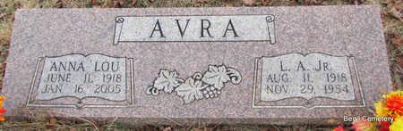 AVRA, JR., L.A. - Faulkner County, Arkansas | L.A. AVRA, JR. - Arkansas Gravestone Photos