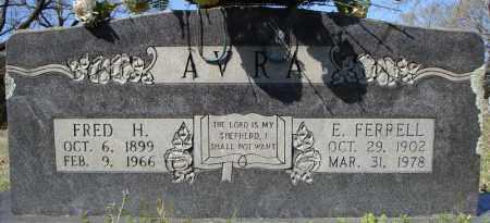 AVRA, FRED H. - Faulkner County, Arkansas | FRED H. AVRA - Arkansas Gravestone Photos