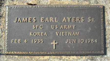 AYERS, SR (VETERAN 2 WARS), JAMES EARL - Faulkner County, Arkansas | JAMES EARL AYERS, SR (VETERAN 2 WARS) - Arkansas Gravestone Photos
