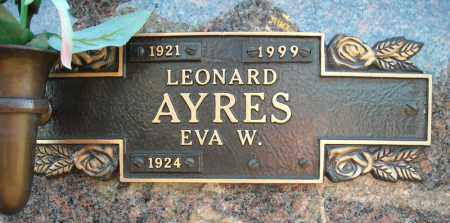 AYRES, LEONARD - Faulkner County, Arkansas | LEONARD AYRES - Arkansas Gravestone Photos