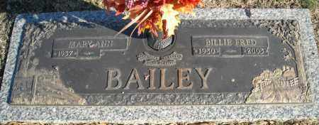 BAILEY, BILLIE FRED - Faulkner County, Arkansas | BILLIE FRED BAILEY - Arkansas Gravestone Photos