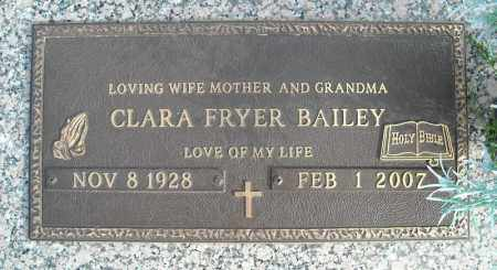 FRYER BAILEY, CLARA - Faulkner County, Arkansas | CLARA FRYER BAILEY - Arkansas Gravestone Photos