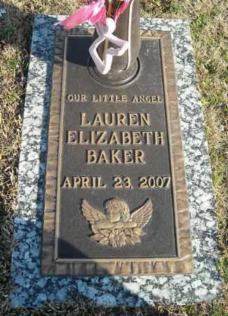 BAKER, LAUREN ELIZABETH - Faulkner County, Arkansas | LAUREN ELIZABETH BAKER - Arkansas Gravestone Photos