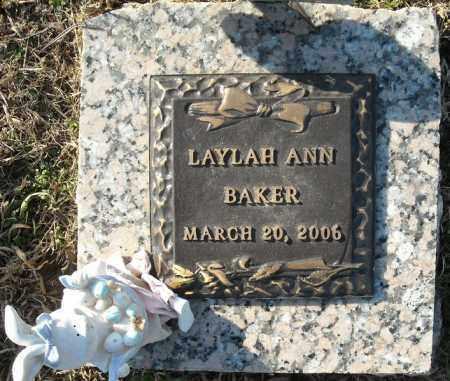 BAKER, LAYLAH ANN - Faulkner County, Arkansas | LAYLAH ANN BAKER - Arkansas Gravestone Photos