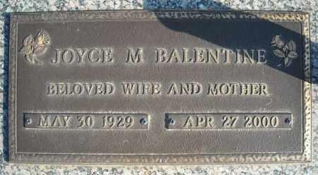 BALENTINE, JOYCE M. - Faulkner County, Arkansas | JOYCE M. BALENTINE - Arkansas Gravestone Photos