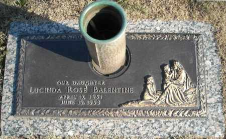 BALENTINE, LUCINDA ROSE - Faulkner County, Arkansas | LUCINDA ROSE BALENTINE - Arkansas Gravestone Photos