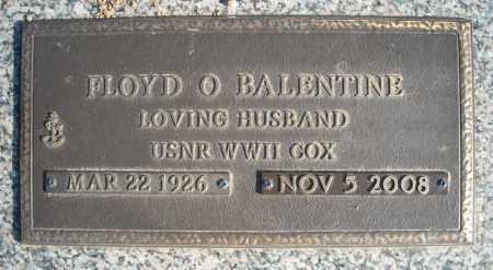 BALENTINE (VETERAN WWII), FLOYD O - Faulkner County, Arkansas | FLOYD O BALENTINE (VETERAN WWII) - Arkansas Gravestone Photos