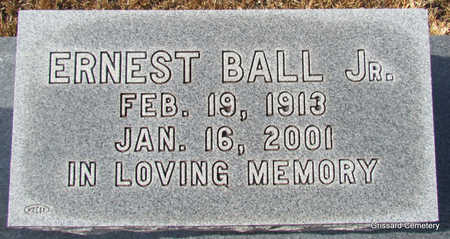 BALL, JR., ERNEST (CLOSE UP) - Faulkner County, Arkansas | ERNEST (CLOSE UP) BALL, JR. - Arkansas Gravestone Photos