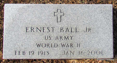 BALL, JR (VETERAN WWII), ERNEST - Faulkner County, Arkansas | ERNEST BALL, JR (VETERAN WWII) - Arkansas Gravestone Photos