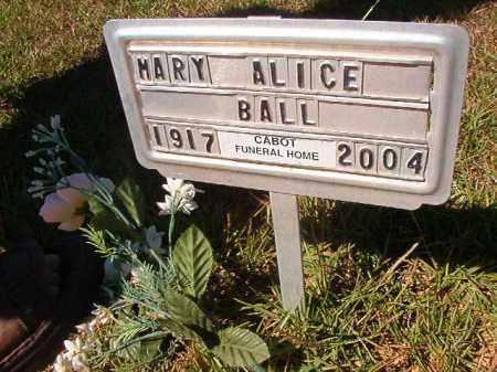 BALL, MARY ALICE - Faulkner County, Arkansas | MARY ALICE BALL - Arkansas Gravestone Photos