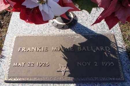BALLARD, FRANKIE MARIE - Faulkner County, Arkansas | FRANKIE MARIE BALLARD - Arkansas Gravestone Photos