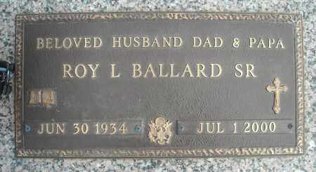 BALLARD, SR (VETERAN), ROY L - Faulkner County, Arkansas | ROY L BALLARD, SR (VETERAN) - Arkansas Gravestone Photos