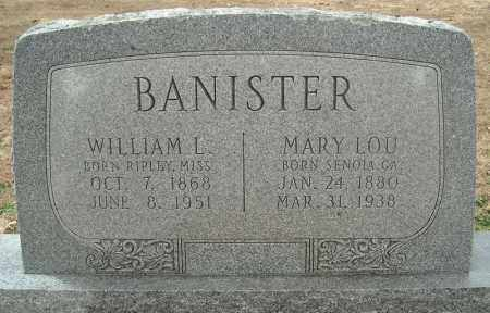 BANISTER, MARY LOU - Faulkner County, Arkansas | MARY LOU BANISTER - Arkansas Gravestone Photos