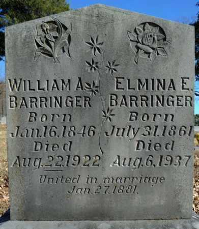 BARRINGER, WILLIAM A. - Faulkner County, Arkansas | WILLIAM A. BARRINGER - Arkansas Gravestone Photos