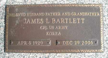 BARTLETT (VETERAN KOR), JAMES L - Faulkner County, Arkansas | JAMES L BARTLETT (VETERAN KOR) - Arkansas Gravestone Photos
