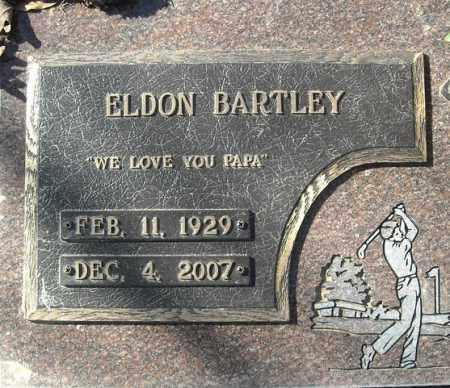 BARTLEY, ELDON  (CLOSE UP) - Faulkner County, Arkansas | ELDON  (CLOSE UP) BARTLEY - Arkansas Gravestone Photos