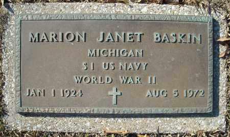 BASKIN (VETERAN WWII), MARION JANET - Faulkner County, Arkansas | MARION JANET BASKIN (VETERAN WWII) - Arkansas Gravestone Photos