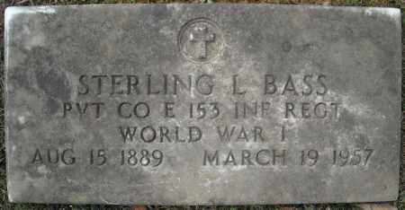 BASS (VETERAN WWI), STERLING L. - Faulkner County, Arkansas | STERLING L. BASS (VETERAN WWI) - Arkansas Gravestone Photos