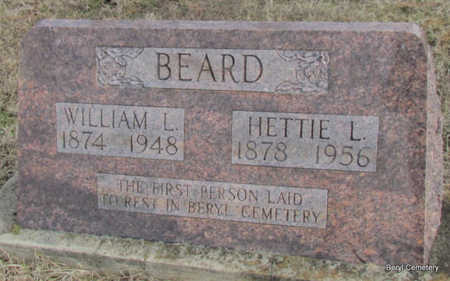 BEARD, WILLIAM L - Faulkner County, Arkansas | WILLIAM L BEARD - Arkansas Gravestone Photos