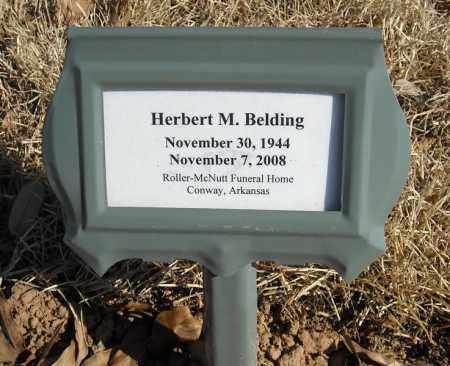 BELDING, HERBERT M. - Faulkner County, Arkansas | HERBERT M. BELDING - Arkansas Gravestone Photos