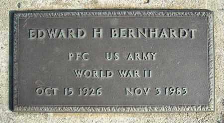 BERNHARDT (VETERAN WWII), EDWARD H - Faulkner County, Arkansas | EDWARD H BERNHARDT (VETERAN WWII) - Arkansas Gravestone Photos