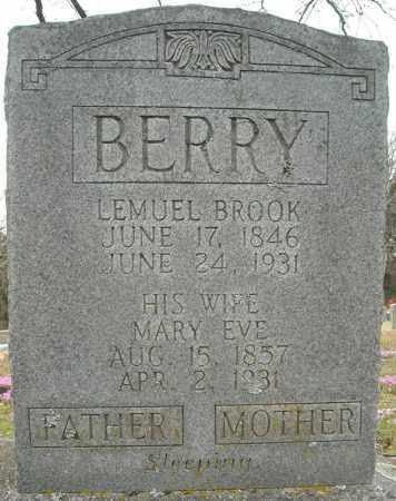 BERRY, MARY EVE - Faulkner County, Arkansas | MARY EVE BERRY - Arkansas Gravestone Photos