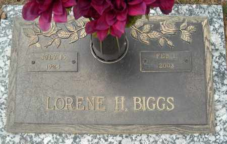 BIGGS, LORENE H. - Faulkner County, Arkansas | LORENE H. BIGGS - Arkansas Gravestone Photos