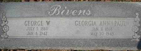 BIVENS, GEORGE W. - Faulkner County, Arkansas | GEORGE W. BIVENS - Arkansas Gravestone Photos