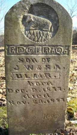 BLAIR, EDGER. Q. - Faulkner County, Arkansas | EDGER. Q. BLAIR - Arkansas Gravestone Photos