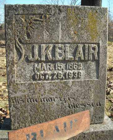 BLAIR, J.K. - Faulkner County, Arkansas | J.K. BLAIR - Arkansas Gravestone Photos